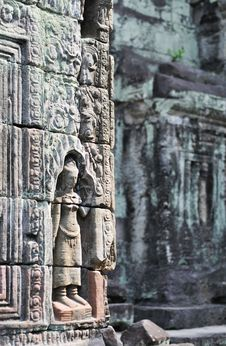 Free Preah Khan - Wall Relief Stock Images - 5704134