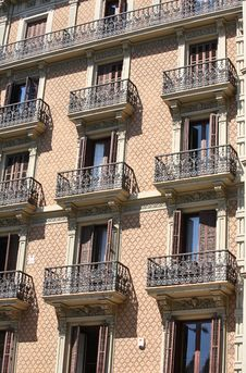 Free Apartment Building With Balconies Royalty Free Stock Photo - 5704295