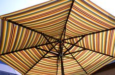 Free Colorful Striped Umbrella Royalty Free Stock Image - 5704796