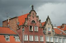 Free Old Houses And Roofs In Gdansk Royalty Free Stock Photos - 5704908