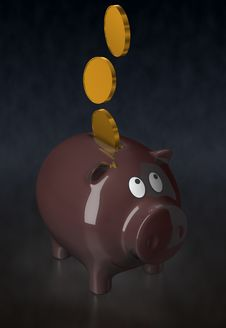 Free Piggy Bank. Royalty Free Stock Images - 5705009