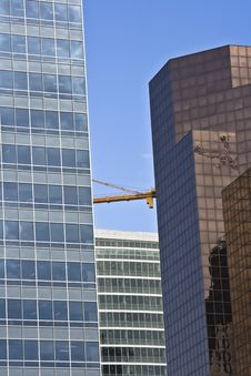 Free Modern Skyscrapers With Crane Royalty Free Stock Photography - 5705377