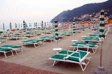 Free Closed Umbrellas On The Beach Stock Photo - 5705940