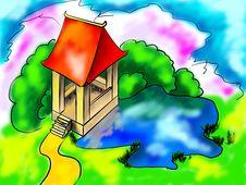Free Japanese Summerhouse Royalty Free Stock Photos - 5705968