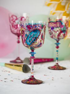 Free Party Glasses Royalty Free Stock Photos - 5706218