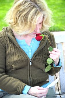 Free Smell Of A Rose. Royalty Free Stock Photography - 5707267