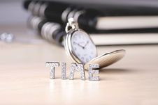 Pocket Watch With Text Of Royalty Free Stock Photo