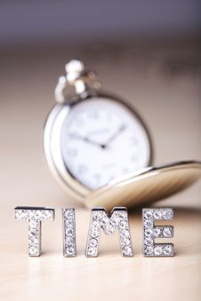 Free Pocket Watch With Text Of Time Stock Photos - 5707673
