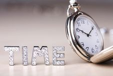 Free Pocket Watch With Text Of Time Stock Photo - 5707770