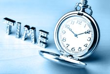 Free Pocket Watch With Text Of Time Stock Photos - 5707823
