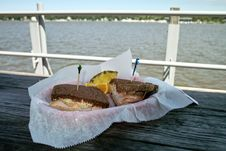 Sandwich On The Dock Stock Image