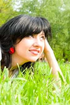 Free Pretty Woman Rest On The Grass Royalty Free Stock Photo - 5707995
