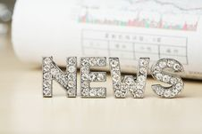 Free Text Of 'news' With Newspaper Royalty Free Stock Image - 5708056
