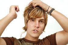 Free Blond Male Beauty Stock Photography - 5708302