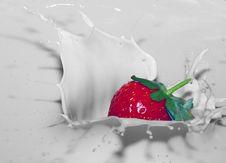 Free Strawberry Splash Stock Photo - 5708760