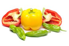 Free Mixed Peppers Royalty Free Stock Photos - 5709058