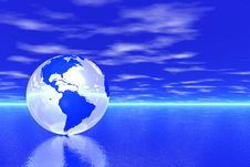 Free Globe In Ocean Royalty Free Stock Images - 5709129