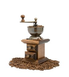 Free Old Fashioned Coffee Grinder Stock Photography - 5709142