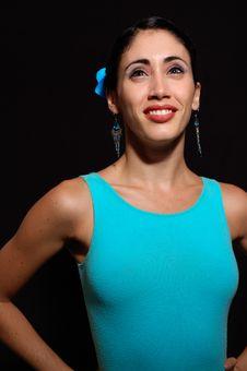 Free Joyful Flamnco Dancer Royalty Free Stock Photography - 5709367