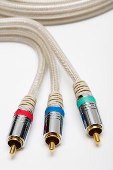 Free Component Video Cable Stock Image - 5709801
