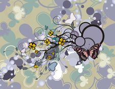Free Abstract Floral Background Stock Photography - 5709872