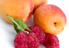 Free Close-up Of Raspberry And Apricots Stock Photos - 5709923