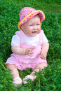 Free Small Baby On Green Grass Royalty Free Stock Images - 5713129