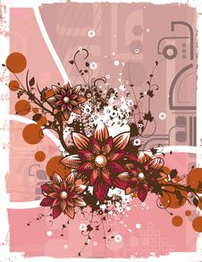 Free Floral Grunge Background Stock Photography - 5710022