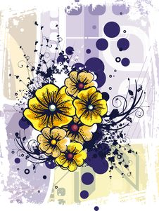 Free Floral Grunge Background Royalty Free Stock Images - 5710049