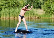 Free Dancing On A Water Royalty Free Stock Photo - 5710195