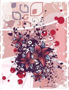 Free Floral Grunge Background Stock Image - 5710311