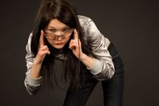 Free Young Girl In Fashion Sunglasses Royalty Free Stock Photos - 5710698