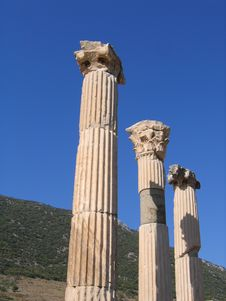 Free Column Close-up Of Ancient Ephesus Stock Photography - 5710772