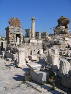 Free Ancient Ruins - Ephesus - Roman Empire Stock Photography - 5710932