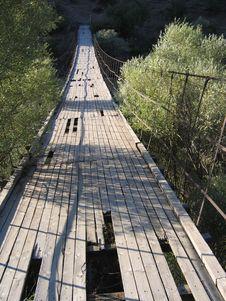 Free Old Suspension Bridge - Tigris River, Turkey Stock Photos - 5711083