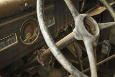 Free Interior Of A Wreck Truck Royalty Free Stock Image - 5711276