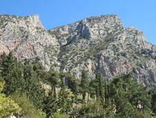 High Mountains - Delphi Greece Stock Photo