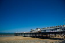 Free Blue Sky And The Pier Royalty Free Stock Photo - 5711345