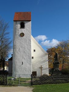 Free Old Church And October Sky - Germany Stock Photography - 5711462