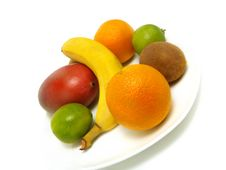 Plate Of Fresh Fruits Royalty Free Stock Photography
