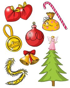 Objects 03 - Christmas Royalty Free Stock Image