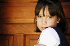 Girl Looking Forward Royalty Free Stock Image