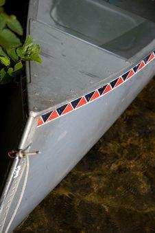 Free Aluminum Canoe Bow Royalty Free Stock Photography - 5712787