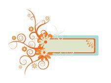 Free Retro Floral Banner Stock Photo - 5713140