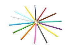 Free Circle Of Pencils Royalty Free Stock Photos - 5713468