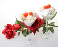 Free Ice-cream A Glass. Stock Photography - 5713522