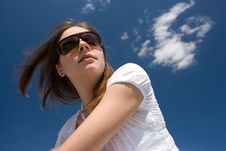 Free Young Woman On Roof Stock Photo - 5713560