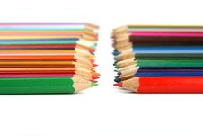 Line Of Pencils Stock Photography