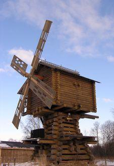 A Wooden Mill Stock Photos