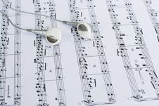 Headphones On Sheet Music Stock Images